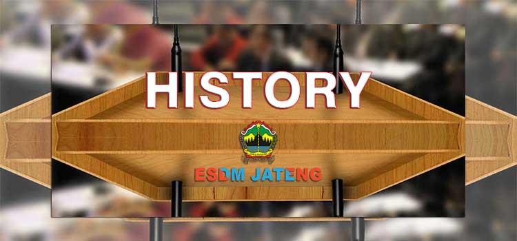 Sejarah Dinas ESDM Jawa Tengah